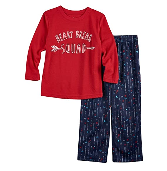 fa96c77287a6 Amazon.com  Jammies For Your Families Toddler Boys Heart Break Squad ...