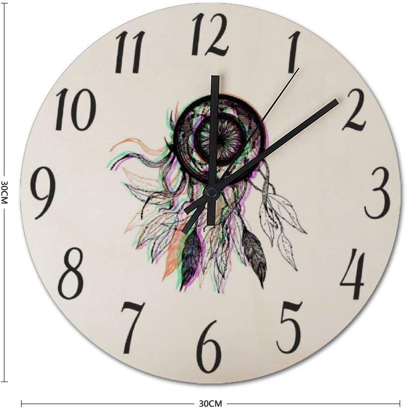 Amazon Co Jp Inov Modern Artistic Native American Clock Wall Clock Wall Clock Wall Sconce Wall Hanging Design Clock Fashion Watches Cool Wall Clock Modern Diameter 25cm Home Kitchen