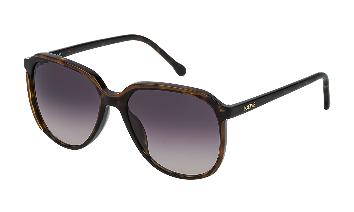LOEWE Women''s SLW962M5601EH Sunglasses, (Dark Havana+Light Brown), 56