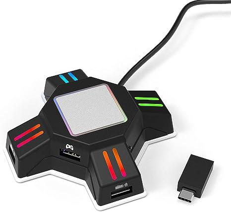 PS4 - Adaptador de teclado y ratón USB para PS4 Pro/PS4 Slim/PS3 ...