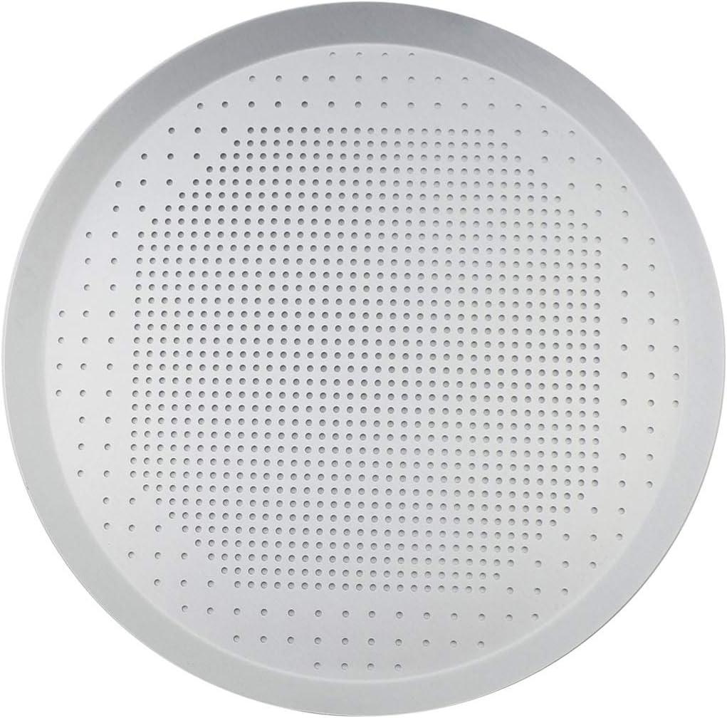 Chokxus Pizza Pan 12inch Pizza Baking Tray Round Pizza Crisper Pan Sheet with Hole Aluminum Alloy Kitchen Bakware Tool