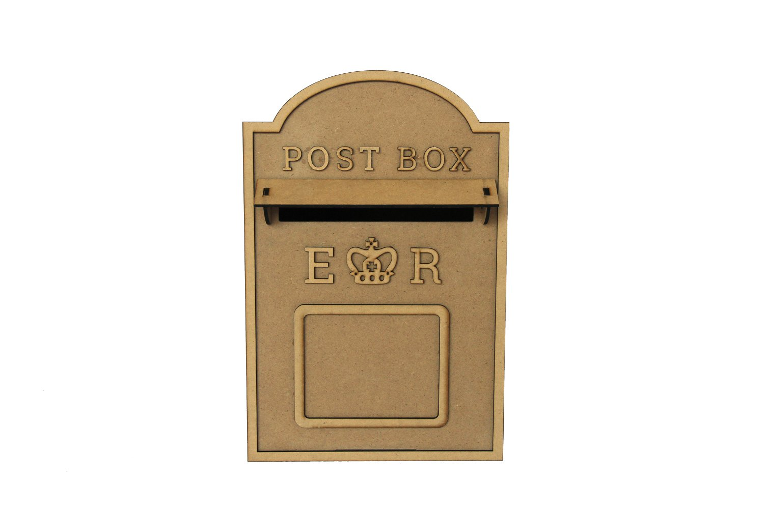 ASVP Shop Wedding Post Box, Royal Mail Styled, Flat Pack, Unpainted MDF for Cards