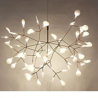 Nclon Europe du nord Créatif Métal Lampe suspension,Moderne Chambre Dining  hall Lampe suspension Salon Luminaire suspendu Lustre plafond Inclus Source