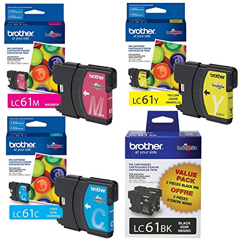 Brother DCP-585CW Ink Cartridge Set - 2pcs Black with 1 of each Color Dcp 585cw Colour
