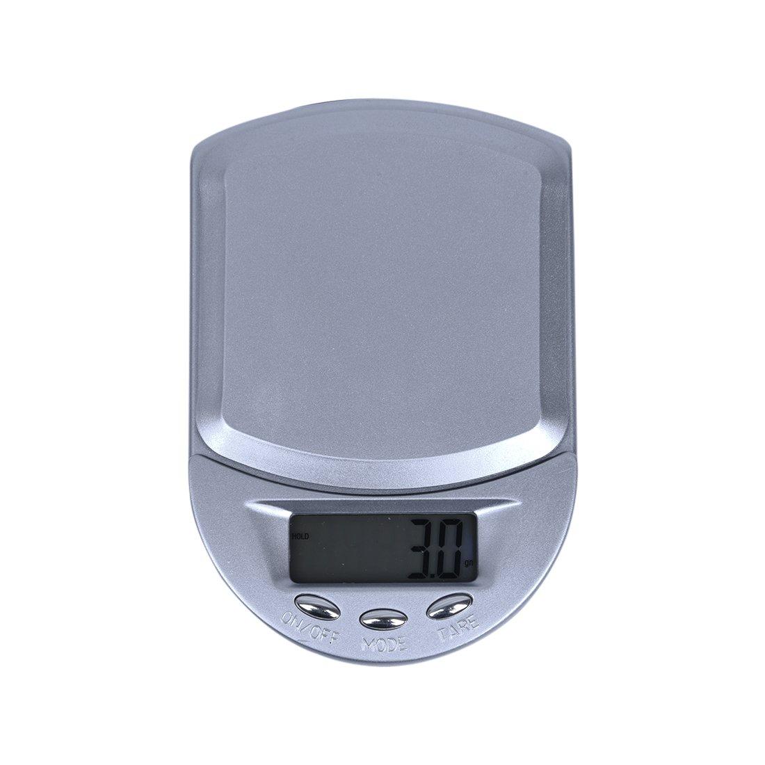 SODIAL(R) LCD BILANCIA BILANCINO DI PRECISIONE 0.1g/500g G GN CT