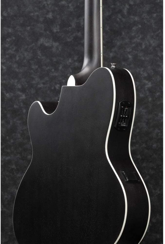 Galaxy Black Open Pore Ibanez TCM50 Electro Acoustic Guitar