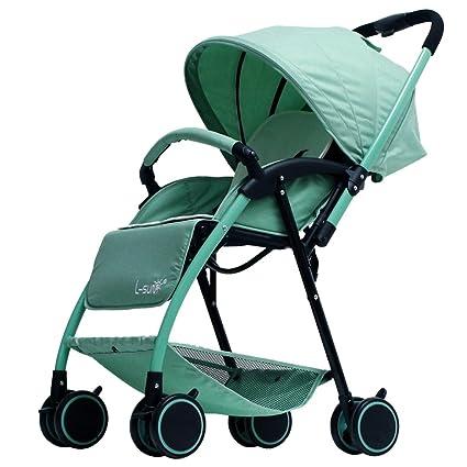 Cochecitos Qiangzi Carrito bebé Niño Carrito bebé Ultraportable Verano Plegable Puede Sentarse se Puede acostar Abajo