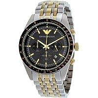 Emporio Armani Tazio Blue Dial Stainless Steel Men's Watch AR6088