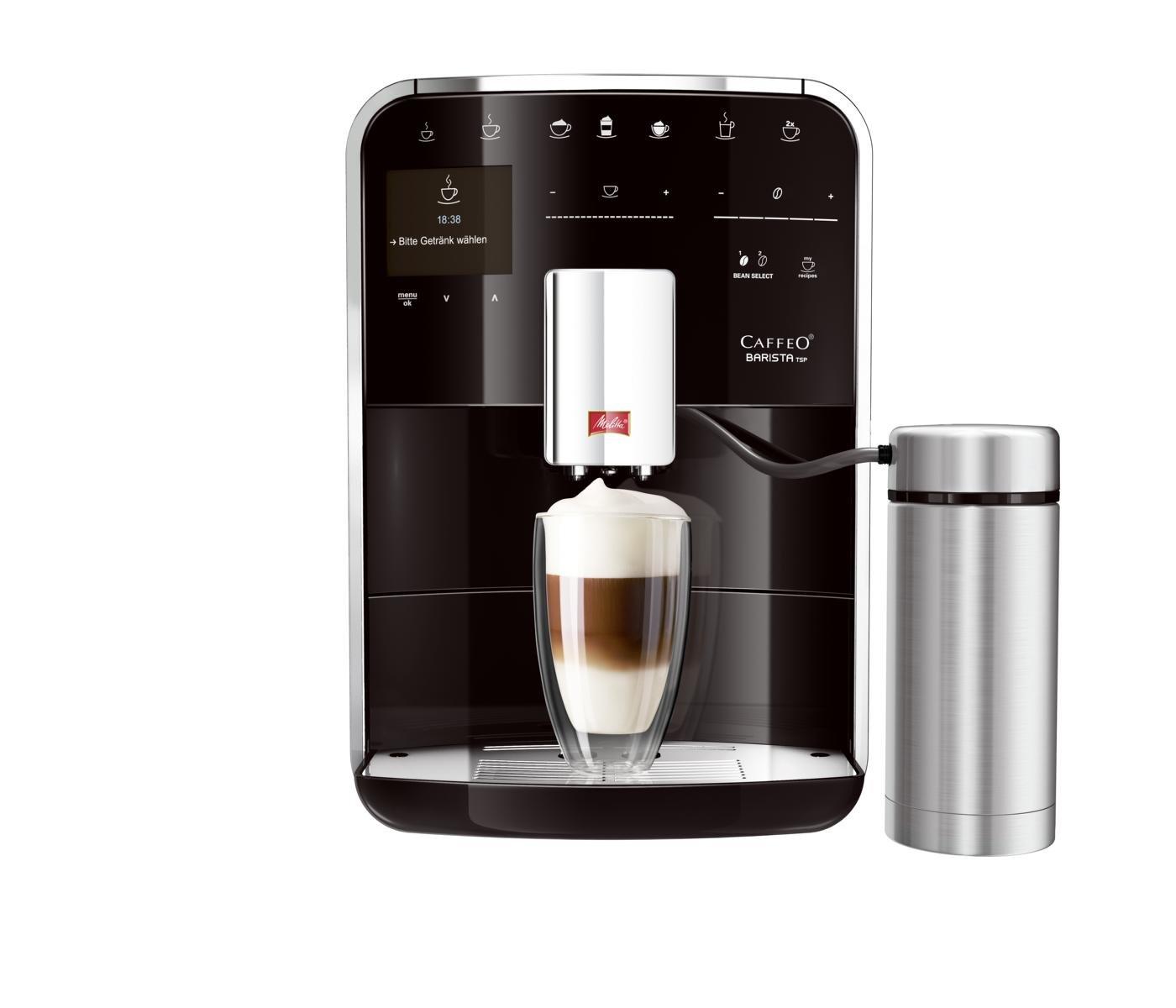 Melitta Caffeo Barista TS RVS - Macchina per caffè espresso, 1.8L, 15 tazze, Acciaio inossidabile F76/0-100