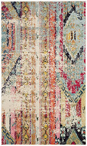 Safavieh Monaco Collection MNC222F Modern Bohemian Distressed Area Rug, 2'2