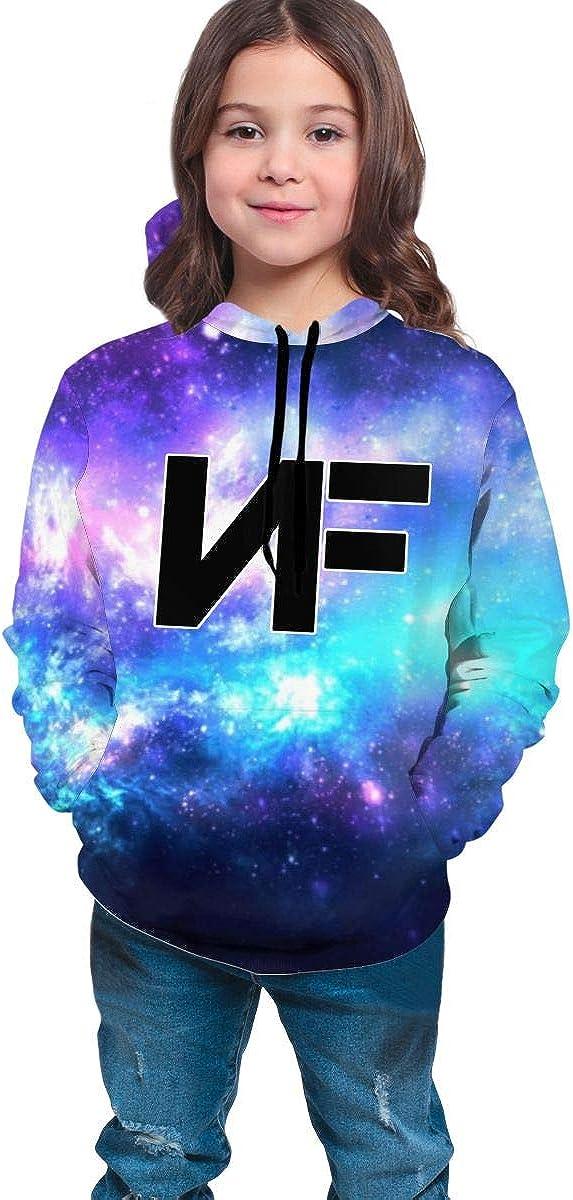 KBRWLOVEME NF Logo Teen Boys Girls 3D Print Casual Pullover Hoodies Hooded Seatshirts with Pocket 7-20Y