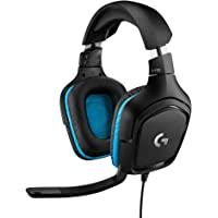 Logitech G432 Gaming Headset, 7.1 surround sound, DTS Headphone:X 2.0, 50mm audio drivers, USB en 3.5mm audio jack, flip…