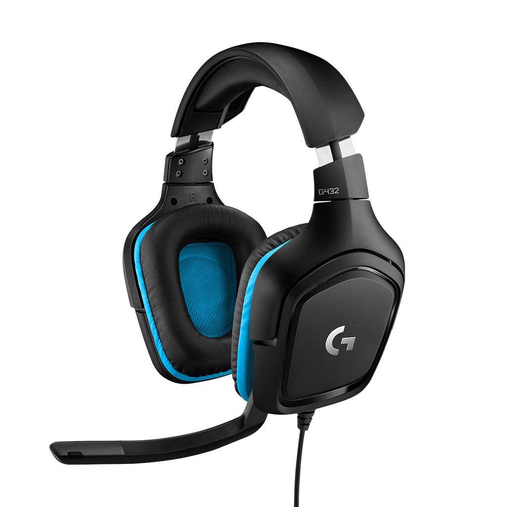 Logitech G432 - Auriculares con micrófono y Sonido Envolvente 7.1...