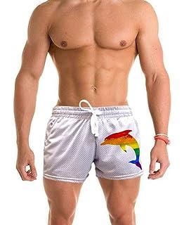Mens Dripping #Squat V274 Gray Fleece Jogger Sweatpants Gym Shorts