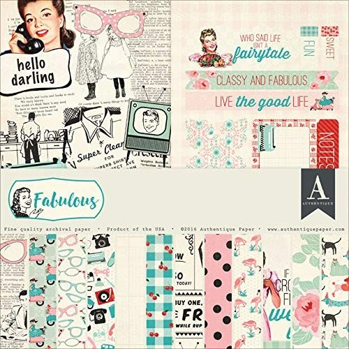 (Authentique - Double-Sided Fabulous Collection 12x12 Scrapbooking Paper Pad)