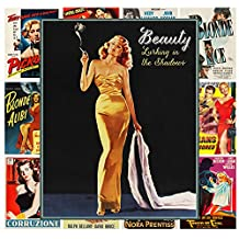 "Wall Calendar 2017 [12 pages 8""x11""] Film Noir Lady Punup # Vintage Trash Movie Posters Reprint"