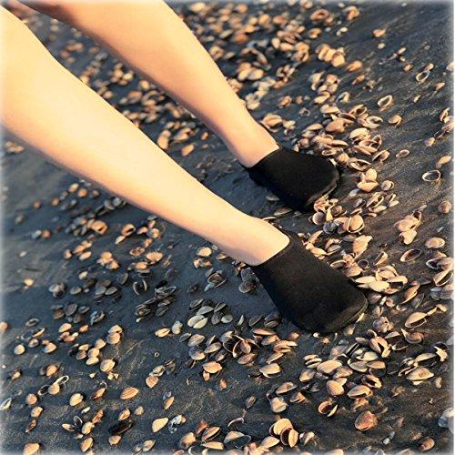 Durable Sole Barefoot Water Skin Shoes Aqua Socks For Beach Pool Sand Swim Surf Yoga Water Aerobics Black CgTOO