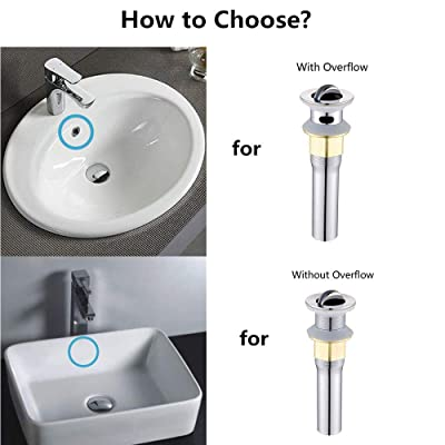 Buy Wetest Bathroom Sink Drain Vessel Sink Clamshell Drain Stopper Sink Drain Assembly With Overflow Polished Chrome Online In Italy B082dnxdyv