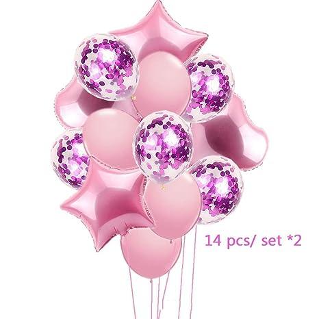14pcs//set Wedding Birthday Balloons Latex Foil Ballons Kids Boy Girl Baby Party