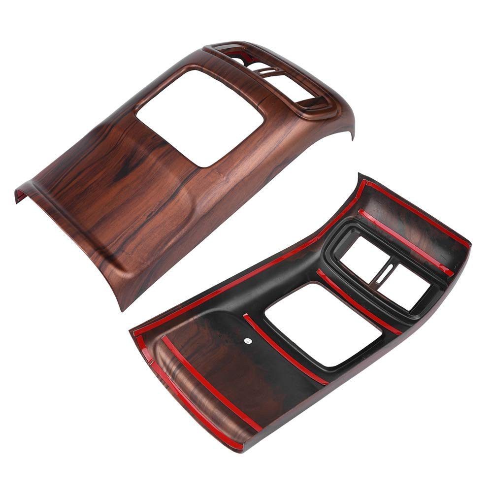 Peach Wood Grain Color Car Air Conditioning Vent Outlet Frame Cover Trim for CRV 2017 Acouto 1PC Rear Air Conditioning Vent Trim