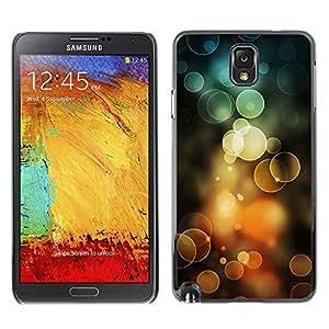 Caucho caso de Shell duro de la cubierta de accesorios de protección BY RAYDREAMMM - Samsung Galaxy Note 3 N9000 N9002 N9005 - Orange Bubbles Spring Sun Summer