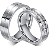 Amazon.com: Titanium Rings For Him And Her, Matching