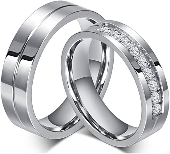 Jewelry Best Seller Stainless Steel CZ Ring