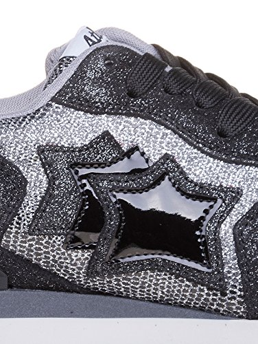 Atlantic Negro Zapatillas Stars de Ante Mujer para Negro rrBn4S