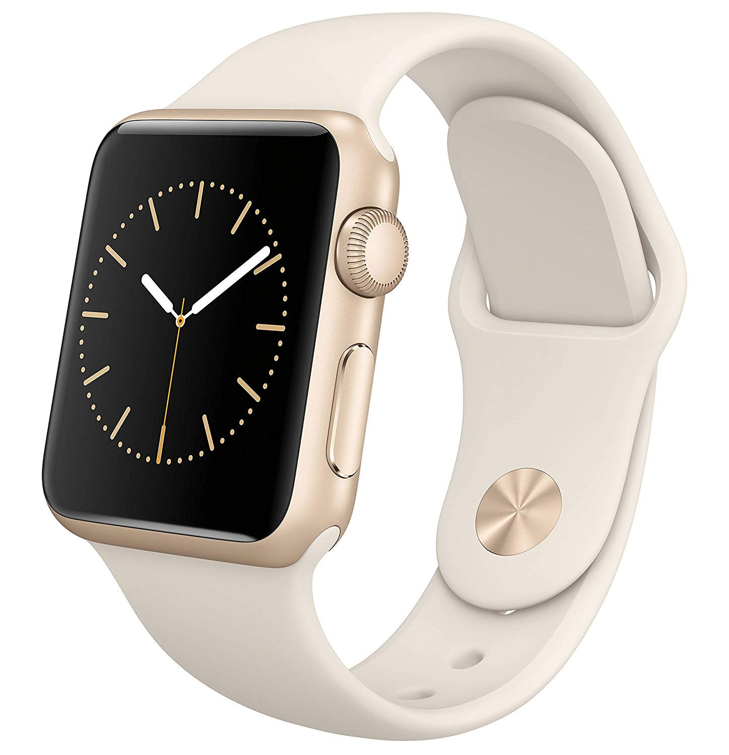Apple Watch Series 1 Smartwatch 38mm Gold Aluminum Case, White Sport Band (Renewed) by Apple (Image #1)