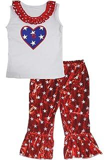 Petitebella Happy New Year 2017 White Cotton Shirt Red Stars Shiny Pant Set 1-8y
