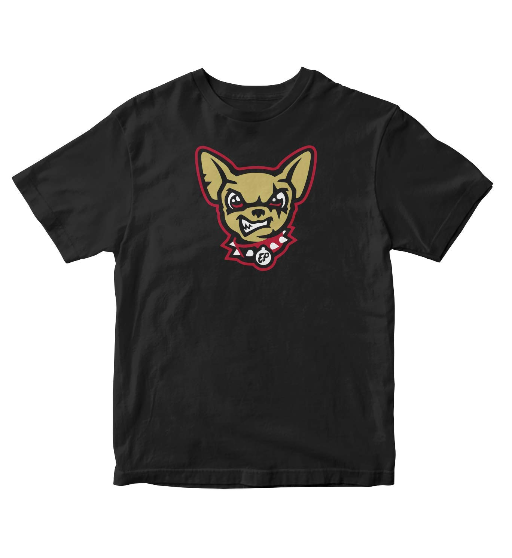 Tjsports El Paso Chihuahuas Face Logo S Black Shirt