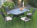 Outdoor Cast Aluminum Patio Furniture 7 Piece Dining Set KL4272 CBM1290 Review