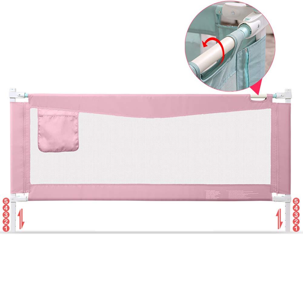 DD ベビー&マタニティ/ベビー布団寝具/ベッドガードフェンス, ベビーフェンスセーフティベッドバー垂直リフティング、85CMハイブルー、パウダー(サイズ:1.2 / 1.5 / 1.8 / 2.0M) -子供を守る (色 : Pink, サイズ さいず : 2.0M) 2.0M Pink B07PS2SK9H