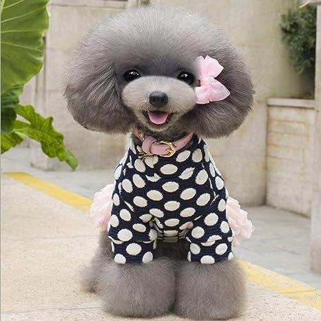 Kongqiabona Moda Invierno Engrosamiento Mantener Cálido Mascota Cachorro Gato Ropa para Perros Falda de algodón Cómodo