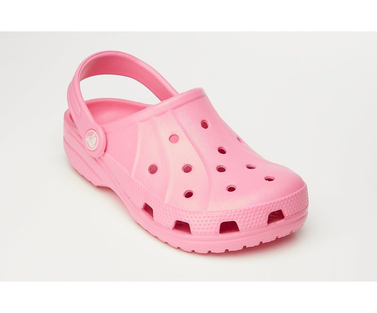 Crocs Kids Ralen Clog, Size: 6-7 M US Toddler, Color Pink Lemonade