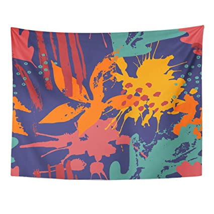 Amazon Com Emvency Wall Tapestry Autumn Abstract Drawing