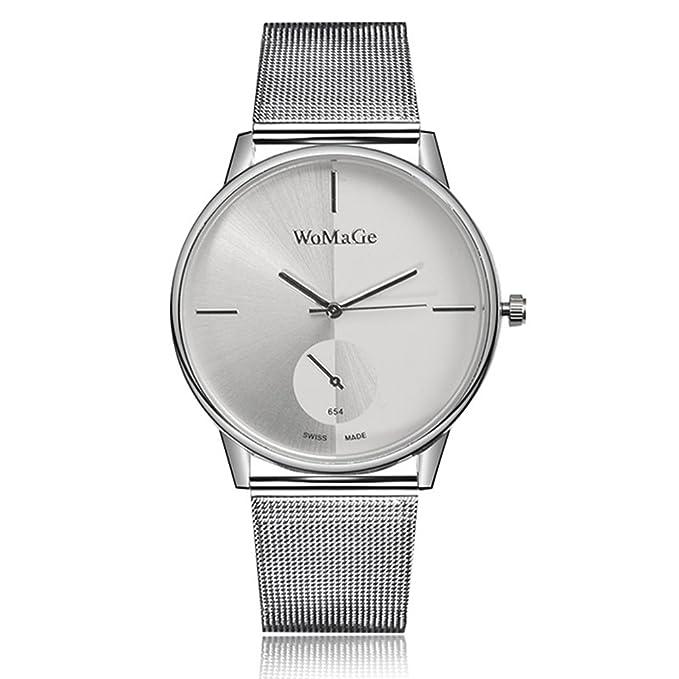 Amazon.com : Fashion Watches Relojes de marca Womage Women Lady Fashion Stainless Steel Mesh Analog Bracelet Wrist Watch (Color : Black) : Sports & Outdoors