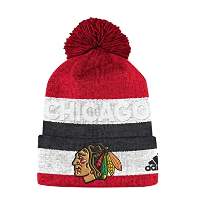 ca1d676ea4cd7 Amazon.com: adidas Chicago Blackhawks Adult Juliet Cuffed Beanie ...