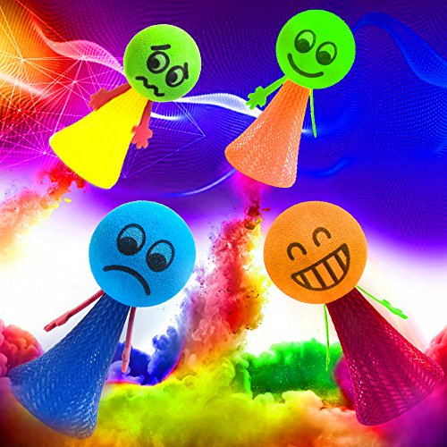 Emoji Christmas Gifts for Boys Girls,[Pack of 8]Kyson Bounce Toys Jump Doll Bounce Elf Fly Toy Creative Toy Party Games Toys with Funny Expression for Kids & Adult