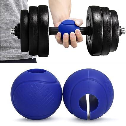 antwalking esfera silicona brazo puños Wrap Barra Mancuerna Barbell empuñaduras para brazo entrenamiento muscular mejorar la