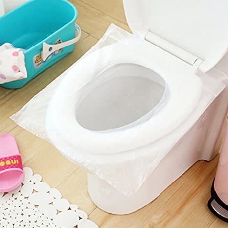 Copriwater Pieghevole Campeggio.Favolook 5 Confezioni 50 Copriwater Tappetino Igienico Gettabile Nel Water Per Bambini Donne Incinta Mamme Campeggio Viaggio