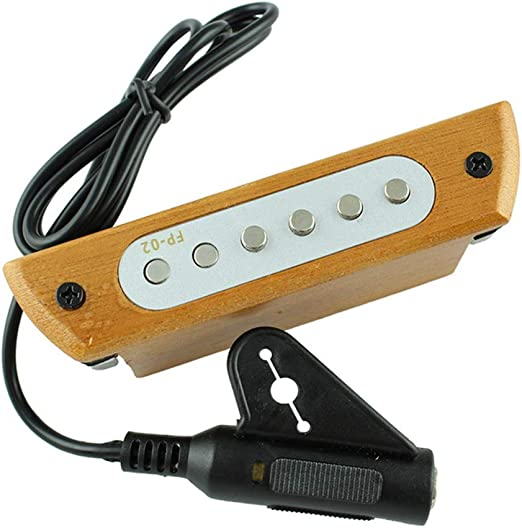 C Five Guitarra Boca del Captador Magnético 6 Agujero Transductor ...