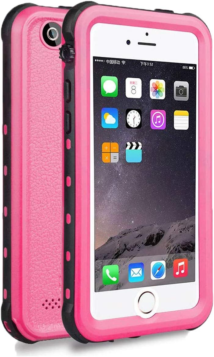 iPhone 5 5S SE Waterproof Case,?2016? Shockproof Dropproof Dirtproof Rain Snow Proof Full Body Protective Cover IP68 Underwater Case Built-in Screen Protector for iPhone 5S 5 SE (Pink)