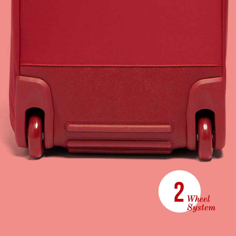 Jet Black Lipault Top Handle Rolling Overnight Travel Weekender Luggage for Women Plume Avenue Wheeled Duffle Bag