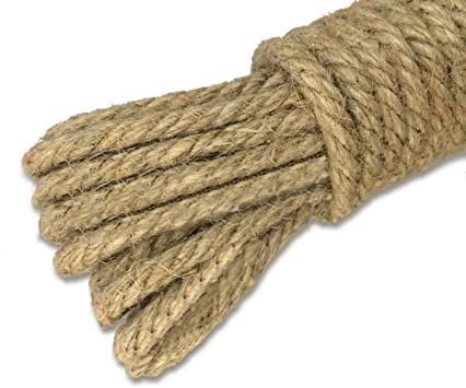 TsingYiStar 997Feet Natural Thick Strong Jute Rope 2mm 3Ply Burlap Twine Hemp Fabric Cord for Arts Crafts DIY Decoration Gift Wrapping