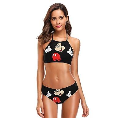Conjunto de Bikini Halter con Estampado de Mickey Mouse ...