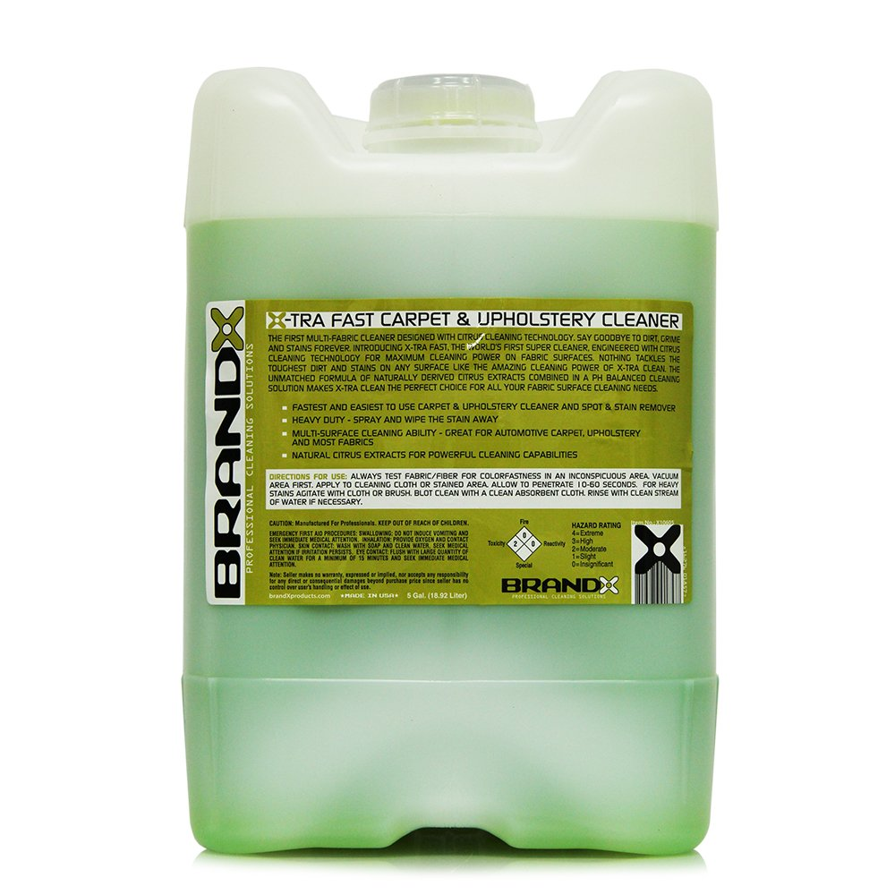 BrandX X10605 X-TRA Fast Carpet and Upholstery Cleaner - 5 gal.