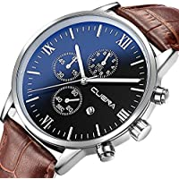 CUENA Mens Analog Quartz Wrist Watch Luxury Sports Fashion Watches Waterproof...