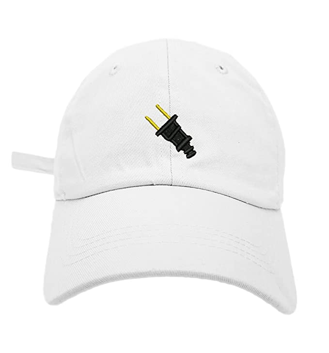 d31197a72ea TheMonsta Plug Image Style Dad Hat Washed Cotton Polo Baseball Cap (Black)  at Amazon Men s Clothing store