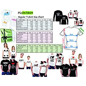 picontshirt Funny Matching Couple Lover Novelty T-Shirts Men M/Women M Design 150